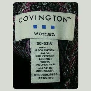 Covington Woman Jackets & Coats - *SALE*Covington Plus-Size Unconstructed Blazer 22W
